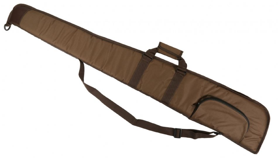 "BROWN Well Padded Gun Slip 52"" Shotgun Bag Clay Pigeon Shooting Hunting New"